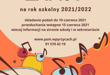 Zapisy na nowy rok szkolny 2021/2022